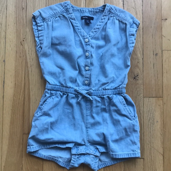 9af68c45e0e GAP Other - Baby Gap Girls 2T Chambray Romper